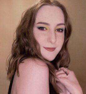 Portrait of Chloe, Performance Production Assistant, smiling
